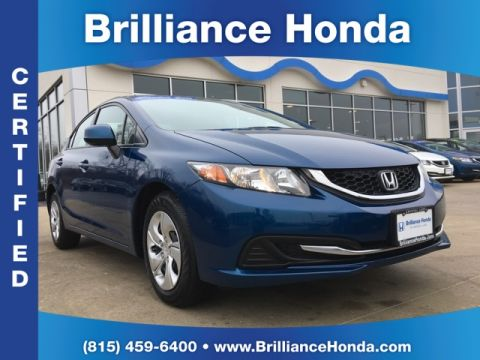 Certified Pre-Owned 2013 Honda Civic LX 4D Sedan