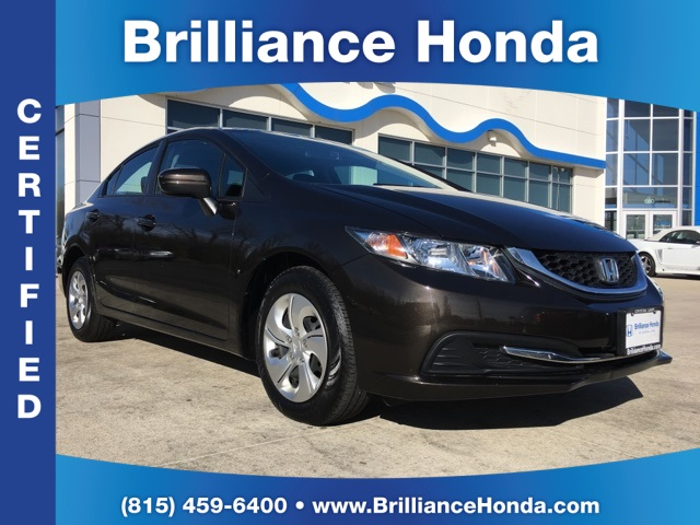 Certified pre owned 2014 honda civic lx 4d sedan in for Certified used honda civic