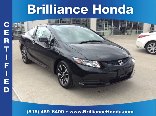 Certified pre owned 2013 honda civic ex 2d coupe in for Certified used honda civic